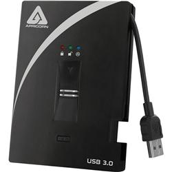 ポータブルHDD Aegis Bio USB3.0シリーズ ソフト不要の指紋認証 AES256-XTS 500GB(FMDI002659)
