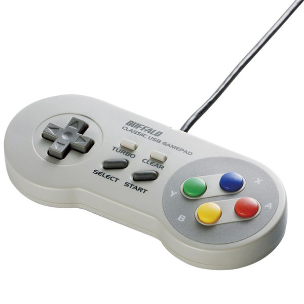 レトロ調 USBゲームパッド 8ボタン SFCタイプ グレー BSGP810GY(FMDI008751)