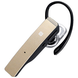 Bluetooth4.1対応 デュアルマイクヘッドセット NFC対応 ゴールド BSHSBE34GD(FMDI005542)