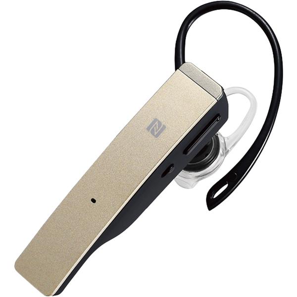 Bluetooth4.1対応 2マイクヘッドセット メタルアンテナ搭載&NFC対応モデル ゴールド BSHSBE500GD(FMDI009006)