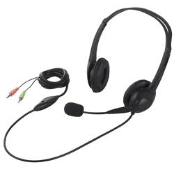 ヘッドセット 両耳ヘッドバンド式 半密閉タイプ ノイズ低減 ブラック BSHSH07BK(FMDI005546)