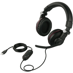 ゲーミングヘッドセット 両耳ヘッドバンド式 5.1chサラウンドシステム ブラック BSHSUH05BK(FMDI005547)