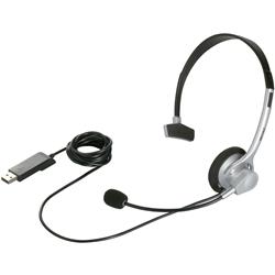 片耳ヘッドバンド式ヘッドセット USB接続/ノイズキャンセリングマイク搭載 シルバー BSHSUH11SV(FMDI005548)