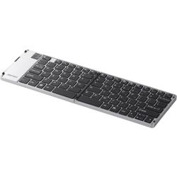 Bluetooth 3.0対応 折りたたみキーボード ケース付き シルバー BSKBB15SV(FMDI004347)