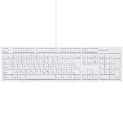 BUFFALO フルキーボード USB接続 パンタグラフ Macモデル ホワイト BSKBM01WH(FMDI008159)