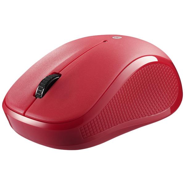 Bluetooth3.0 BlueLEDマウス 静音/3ボタン レッド BSMBB21SRD(FMDI008753)