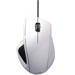 有線BlueLEDマウス 5ボタン/静音/横スクロールタイプ ホワイト・BSMBU18WH(FMDI004061)