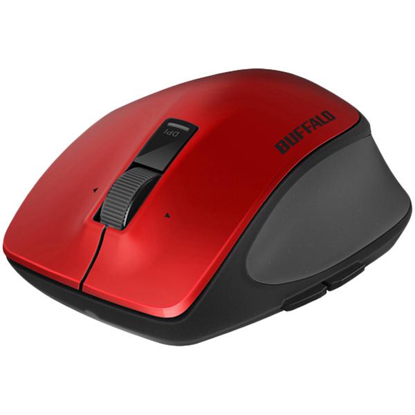 無線 BlueLED プレミアムフィットマウス Lサイズ レッド BSMBW500LRD(FMDI006771)