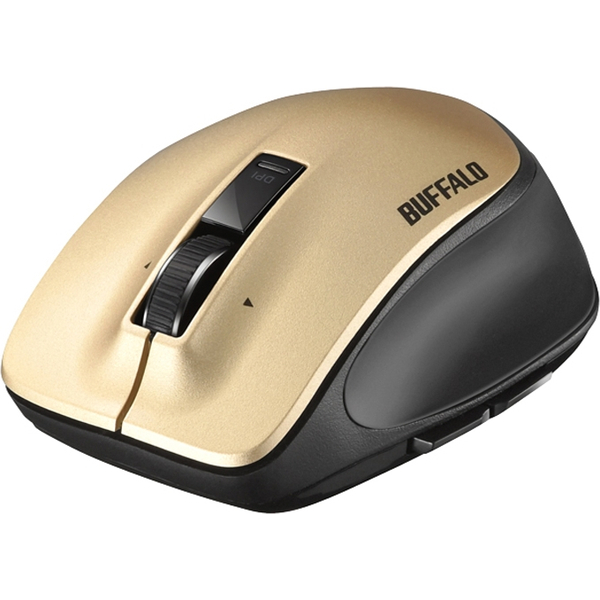 無線 レーザー プレミアムフィットマウス Mサイズ ゴールド BSMLW500MGD(FMDI008076)