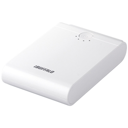 スマートフォン/タブレット用 モバイルバッテリー 10400mAhタイプ ホワイト BSMPB07WH(FMDI005623)