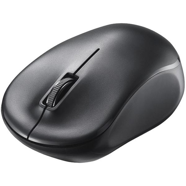 無線(2.4GHz) IR LED光学式マウス 3ボタン/電池長持ち ブラック BSMRW100BK(FMDI008078)