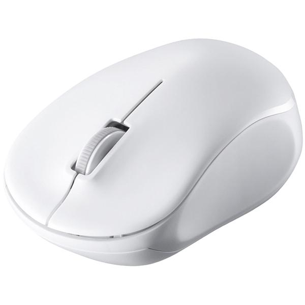 無線(2.4GHz) IR LED光学式マウス 3ボタン/電池長持ち ホワイト BSMRW100WH(FMDI008083)