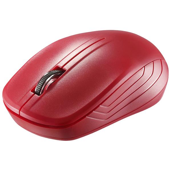 無線(2.4GHz) IR LEDマウス 3ボタンタイプ レッド BSMRW21RD(FMDI006781)
