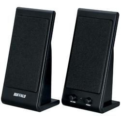 BUFFALO スピーカー USB接続 コンセント不要 1W ブラック  BSSP01UBK(FMDI002935)