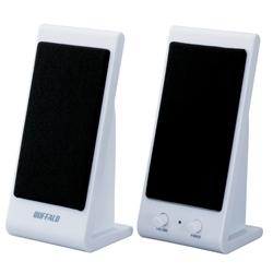 BUFFALO スピーカー USB接続 コンセント不要 1W ホワイト  BSSP01UWH(FMDI002936)