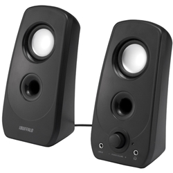2.0ch マルチメディアスピーカー USB電源/ステレオミニプラグ音源 ブラック  BSSP28UBK(FMDI002937)