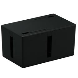 ケーブルボックス 電源タップ&ケーブル収容 Sサイズ ブラック BSTB01SBK(FMDI002052)