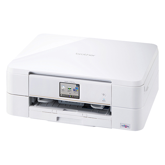 A4インクジェット複合機/10/12ipm/両面印刷/無線LAN/手差し/レーベル印刷 DCP-J767N(FMDI005809)
