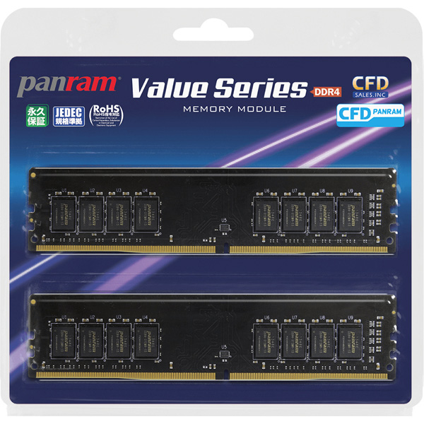 PC4-21300(DDR4-2666) 4GB×2枚 288pin (無期限保証)(Panram) 型番:W4U2666PS-4GC19(FMDI011056)