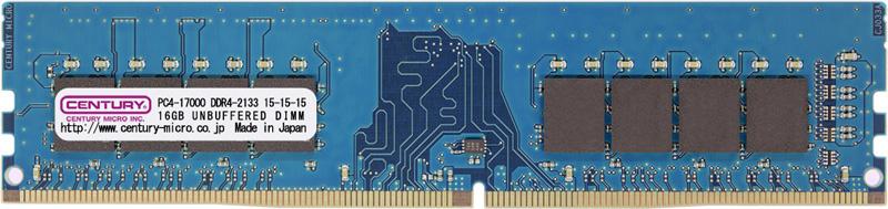 PC4-17000/DDR4-2133 16GB 288pin UDIMM 1.2v 日本製 型番:CD16G-D4U2133(FMDI010874)