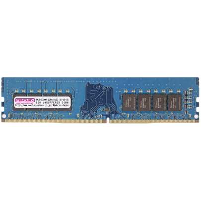 PC4-17000/DDR4-2133 8GB 288-pin UDIMM 1.2v 日本製 型番:CD8G-D4U2133(FMDI010877)