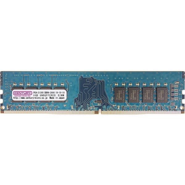 PC4-21300/DDR4-2666 8GB 288-pin UDIMM 1.2v 日本製 型番:CD8G-D4U2666(FMDI011060)