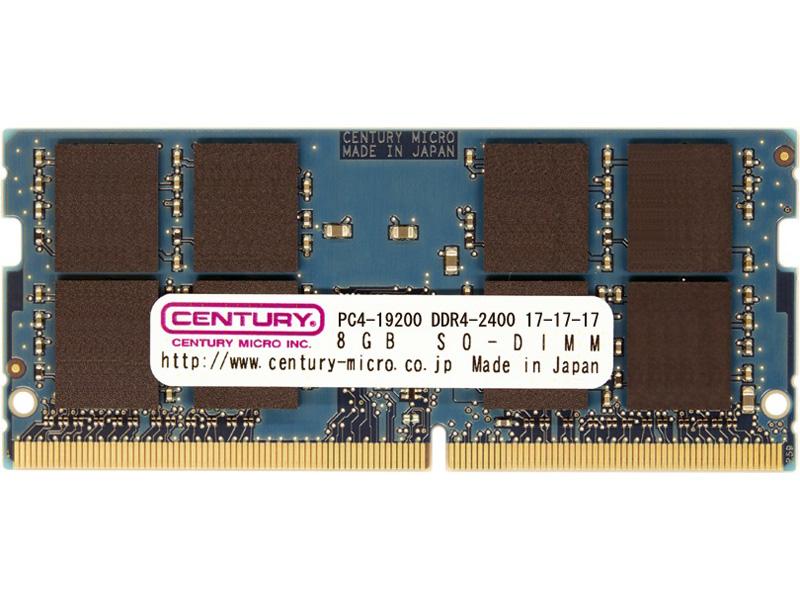 PC4-19200/DDR4-2400 8GB SO-DIMM 日本製 CD8G-SOD4U2400(FMDI007595)