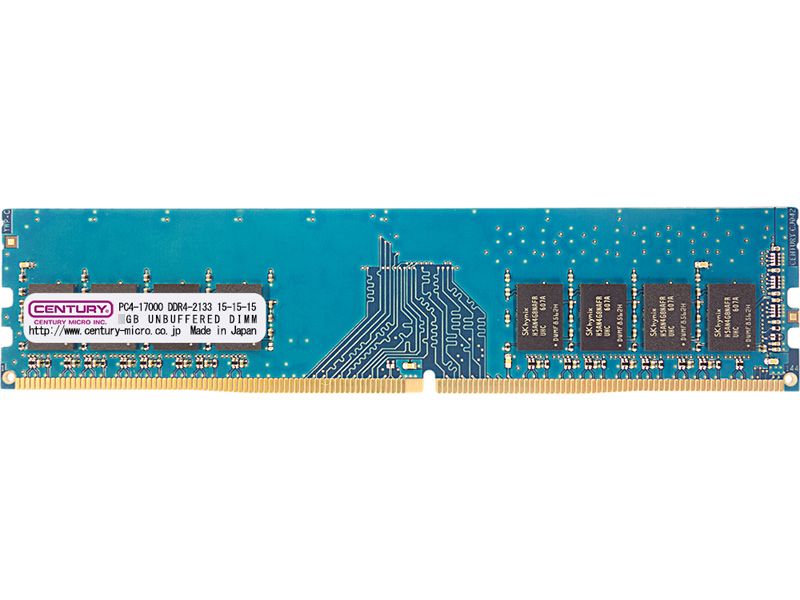 PC4-17000/DDR4-2133 16GBキット(8GB 2枚組) 288-pin UDIMM 1.2v 日本製 1rank 型番:CK8GX2-D4U2133H(FMDI010886)