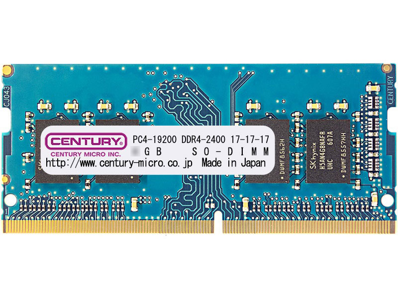 PC4-19200/DDR4-2400 16GBキット(8GB 2枚組) SO-DIMM 日本製 1rank 型番:CK8GX2-SOD4U2400H(FMDI010969)