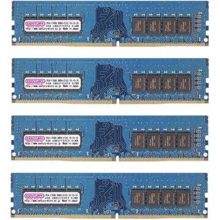 PC4-17000/DDR4-2133 32GBキット(8GB 4枚組) 288-pin UDIMM 1.2v 日本製 型番:CK8GX4-D4U2133(FMDI010888)