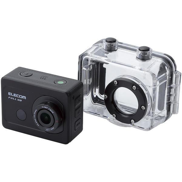 アクションカメラ/Full HD/アクセサリキット付属モデル/ブラック ACAM-F01SBK(FMDI006188)