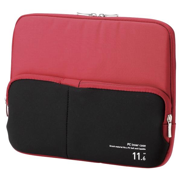 PC用インナーバッグ/ポケット付/11.6インチ/レッド BM-IBPT11RD(FMDI005917)