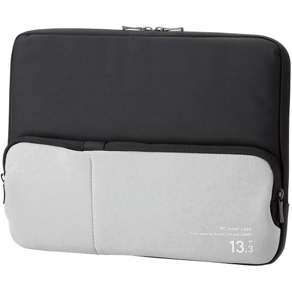 PC用インナーバッグ/ポケット付/13.3インチ/ブラック BM-IBPT13BK(FMDI005918)