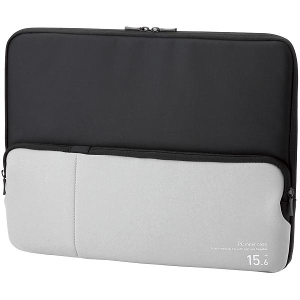 PC用インナーバッグ/ポケット付/15.6インチ/ブラック BM-IBPT15BK(FMDI005920)