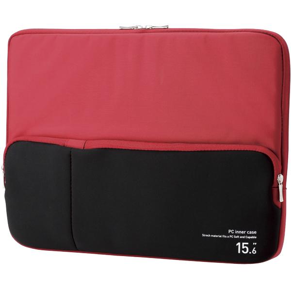 PC用インナーバッグ/ポケット付/15.6インチ/レッド BM-IBPT15RD(FMDI005921)
