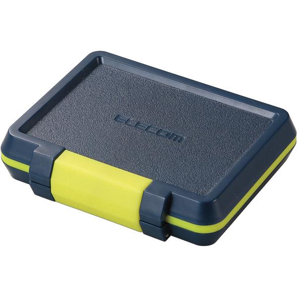 メモリカードケース/ハード/SD8枚+microSD8枚収納/ネイビー CMC-SDCHD01NV(FMDI009063)