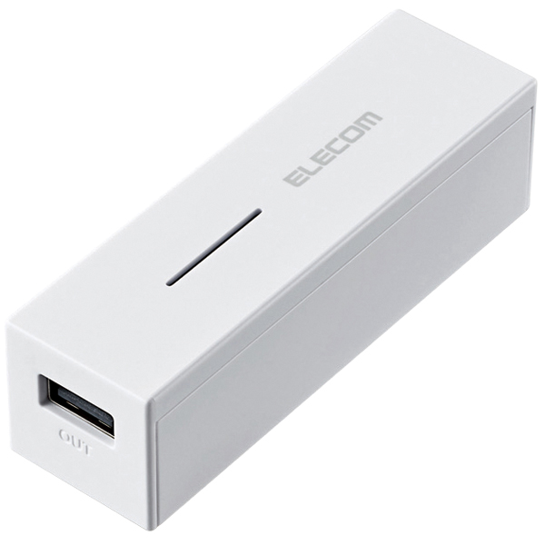 モバイルバッテリー/軽量コンパクト/まとめて充電対応/3000mAh/1.5A/ホワイト DE-M04L-3015WH(FMDI005656)