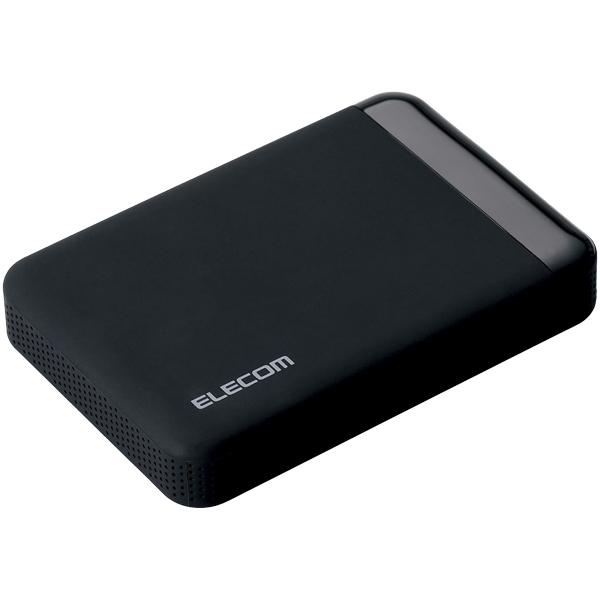 USB3.0 ポータブルハードディスク/ハードウェア暗号化/パスワード保護/500GB ELP-EEN005UBK(FMDI005846)