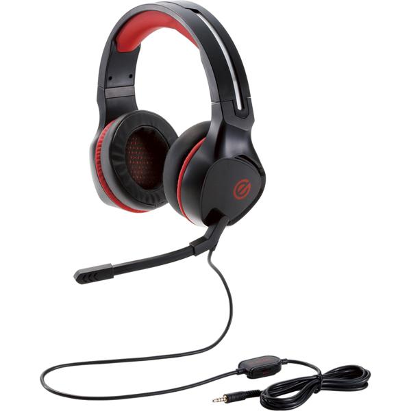 ゲーミングヘッドセット/4極ミニプラグ/極厚イヤーパッド/コントローラ付属/ブラック HS-G01BK(FMDI010310)