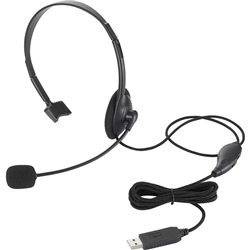 USBヘッドセット/片耳オーバーヘッド/1.8m/ブラック HS-HP21UBK(FMDI005556)