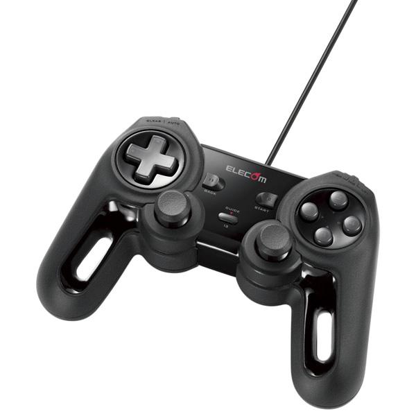 USBゲームパッド/モンスターハンターフロンティアZコラボモデル/13ボタン/振動/連射/高耐久 JC-MHF01BK(FMDI008539)