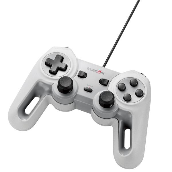 USBゲームパッド/13ボタン/Xinput/振動/連射/高耐久/ホワイト JC-U4013SWH(FMDI008471)