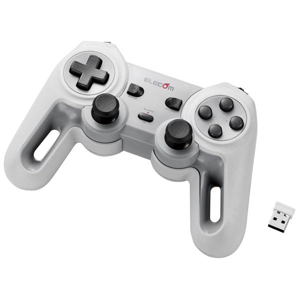 無線ゲームパッド/13ボタン/Xinput/振動/連射/高耐久/ホワイト JC-U4113SWH(FMDI008473)