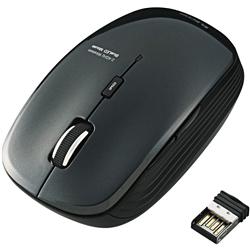ワイヤレスBlueLEDマウス/5ボタン/ブラック M-BL21DBBK(FMDI008092)