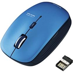 ワイヤレスBlueLEDマウス/5ボタン/ブルー M-BL21DBBU(FMDI008480)