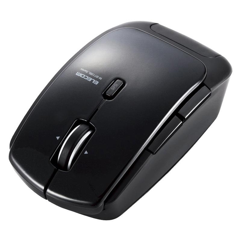 Bluetooth4.0対応レーザーマウス/低消費電力/5ボタン/DPI切替ボタン/ブラック M-BT13BLBK(FMDI004994)