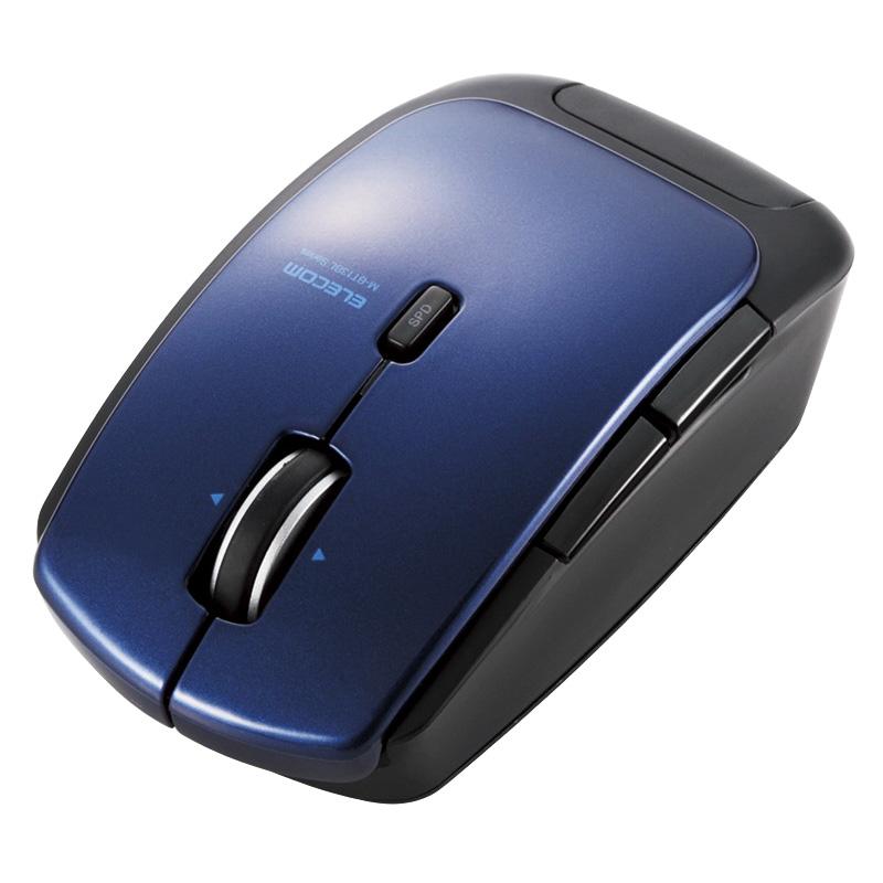 Bluetooth4.0対応レーザーマウス/低消費電力/5ボタン/DPI切替ボタン/ブルー M-BT13BLBU(FMDI004995)