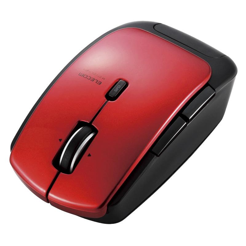 Bluetooth4.0対応レーザーマウス/低消費電力/5ボタン/DPI切替ボタン/レッド M-BT13BLRD(FMDI004996)