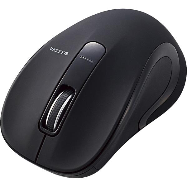 BlueLEDマウス/Salalシリーズ/Mサイズ/Bluetooth/3ボタン/ブラック M-BT18BBBK(FMDI008543)