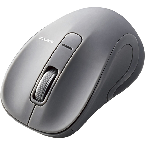 BlueLEDマウス/Salalシリーズ/Mサイズ/Bluetooth/3ボタン/グレー M-BT18BBGY(FMDI008544)